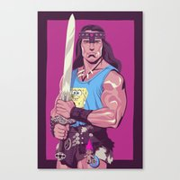 conan Canvas Prints featuring Conan the Barbarian by Mike Wrobel
