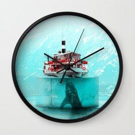 AquaBoat - Julien Tabet - Photoshop Artwork Wall Clock