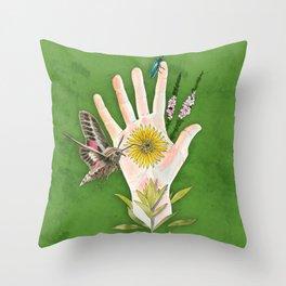 Prairie Hand 2 (Green) Throw Pillow