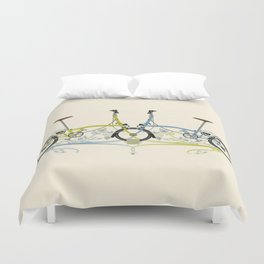 Brompton Bicycle cycling Duvet Cover