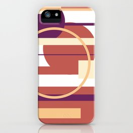 Geometric pattern modern abstract iPhone Case