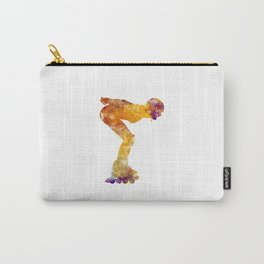 Woman in roller skates 09 in watercolor Carry-All Pouch