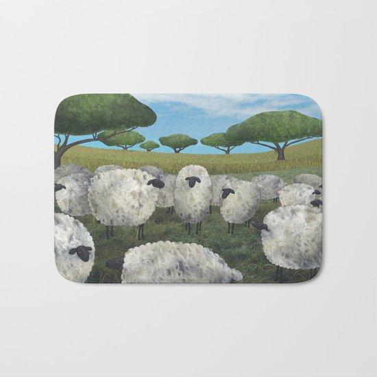 greener pasture Bath Mat