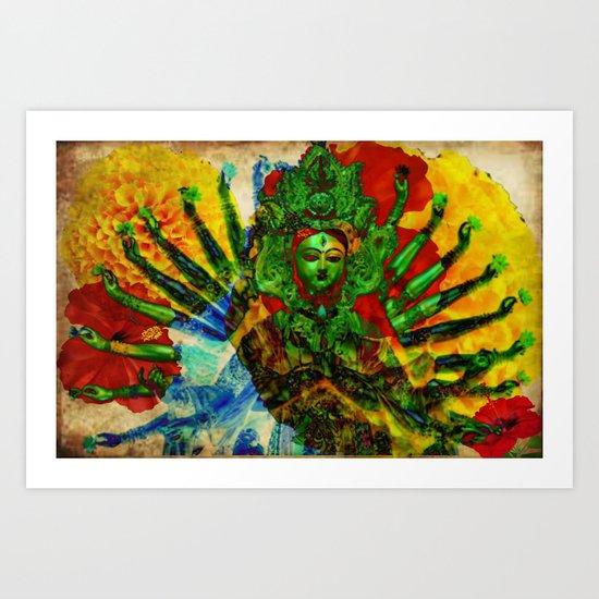 Divine series 3: Shakti Art Print