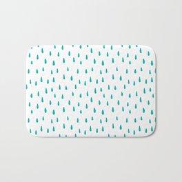 Turquoise Raindrops Bath Mat