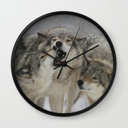 Family Squabble Wall Clock