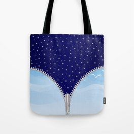 Zipper Day And Night Tote Bag