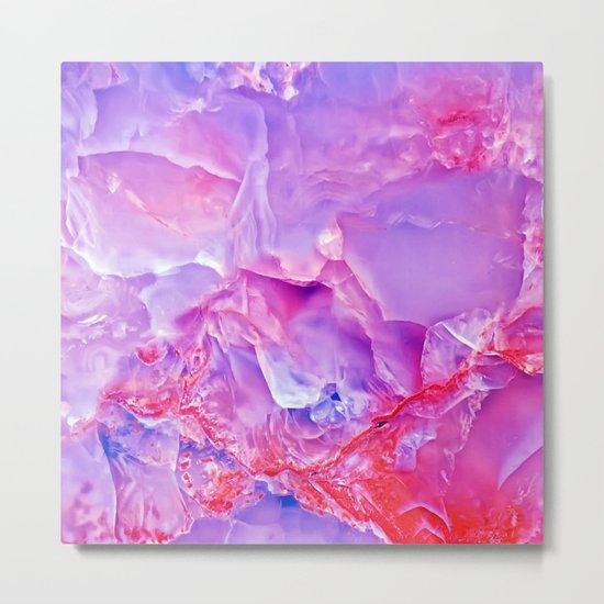 Onyx - blue and pink Metal Print