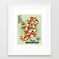 irish Framed Art Prints featuring Irish Breakfast by JupiterInLove