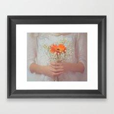 Delicate touch Framed Art Print