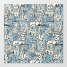 Seattle indigo pale chambray Canvas Print