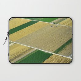 Aerial Geometries. Cereal Fields From The Air Laptop Sleeve