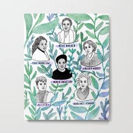 Badass Female Authors Metal Print