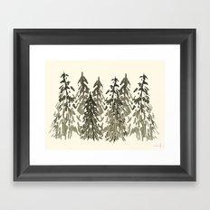 forever greens Framed Art Print