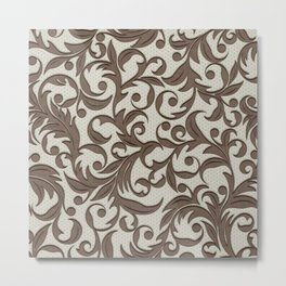 Leather pattern. Branches Metal Print