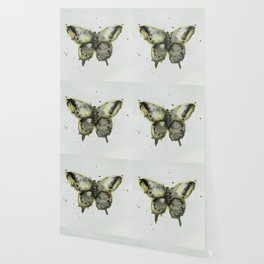 Yellow and Gray Butterfly Wallpaper