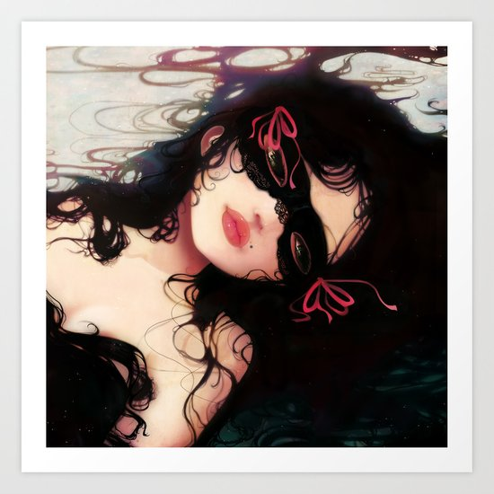Le masque Art Print