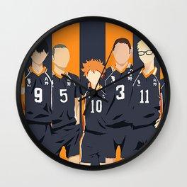 Haikyuu Karasuno Team  Wall Clock