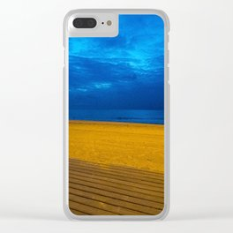 A night at the beach Clear iPhone Case