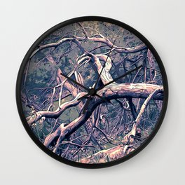 dead forest fallen trees x Wall Clock