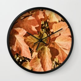Digital Illustration of Colourful and Vibrant Autumn Foliage on a Sunny Day Wall Clock