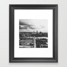 London Below (B&W) Framed Art Print