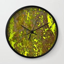 Yellow Rust Wall Clock