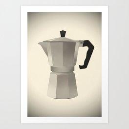 Classic Bialetti Coffee Maker Art Print