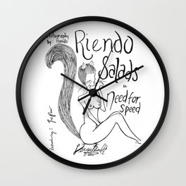 Riendo Salads Issue 2 Need for Speed Wall Clock