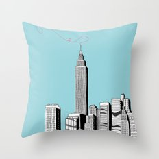 A Scribble in the Sky Throw Pillow
