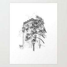 Tower of the palace Art Print