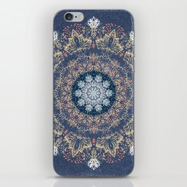 Blue's Golden Mandala iPhone Skin