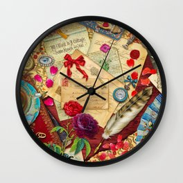 Vintage Love Letters Wall Clock
