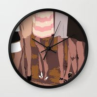 legs Wall Clocks featuring legs by yayanastasia