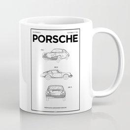Porsché 911 Vintage Race Car Poster / Printable Art Patent / Garage Decor / Present for Millionaire Coffee Mug