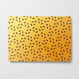 black & yellow Metal Print