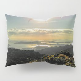 view over islands in new zealand during sunset Pillow Sham