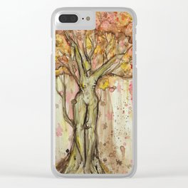 Autumn Dryad Clear iPhone Case
