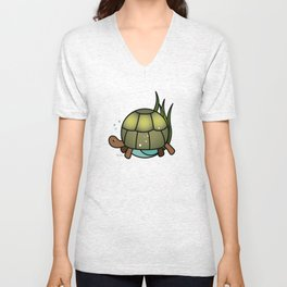 Turtle in a Circle Unisex V-Neck