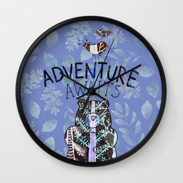 Adventure Awaits - Bagaceous Wall Clock