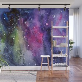 Galaxy Watercolor Night Sky Painting Nebula Art Wall Mural