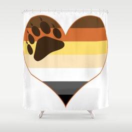 Bear Heart Paw Edition Shower Curtain