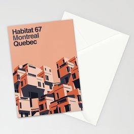 Habitat 67 retro poster Stationery Cards