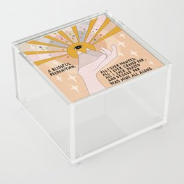 A blissful recognition Acrylic Box
