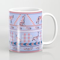 howl Mugs featuring Geometric Howl by Strange Charm
