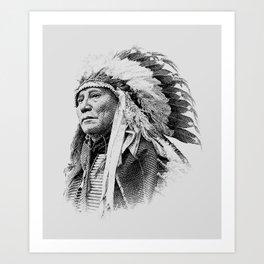 Chief Hollow Horn Bear Graphic 2 Art Print