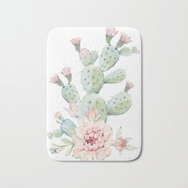 Cactus 3 White #society6 #buyart Bath Mat