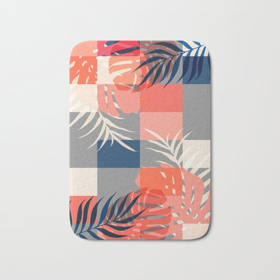 Tropical Puzzle #society6 #decor #buyart Bath Mat