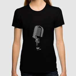 Microphone Silhouette Grey T-shirt