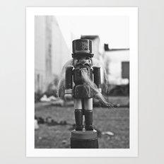 Back alley nutcracker Art Print